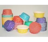 Разноцветные бумажные формы с усиленным бортиком
